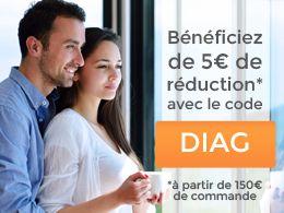Bénéficiez de 5€ de réduction avec le code DIAG