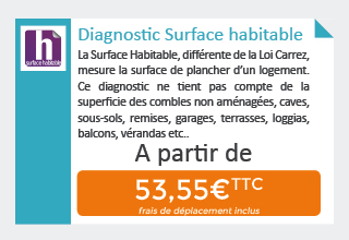 Tarif du diagnostic Surface Habitable - Loi Boutin